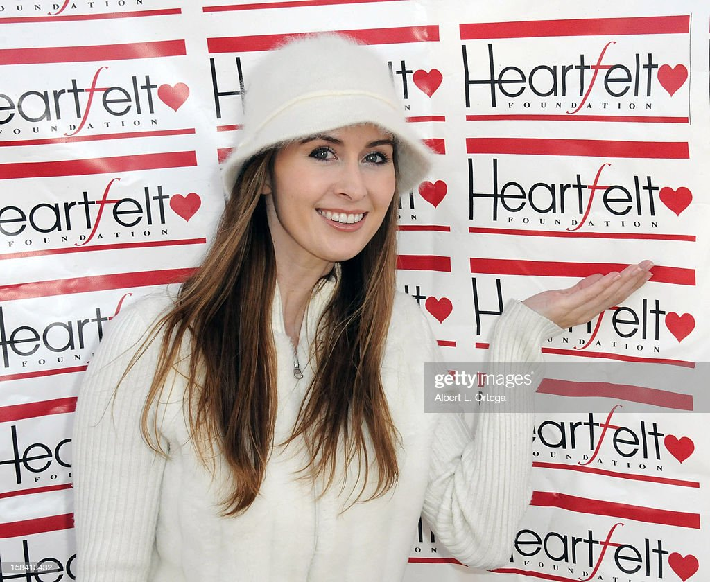 Actress Erin Carufel participates in The Heartfelt Foundation's 33rd Annual Christmas/Holiday Party For Children In Need held at The Santa Monica Pier on December 15, 2012 in Santa Monica, California.