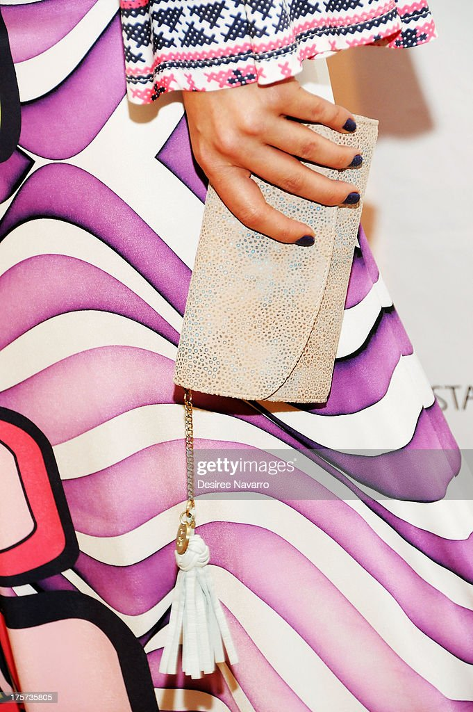 Actress Erin Cummings (clutch detail) attends 'Harbor' Opening Night After Party at Park Avenue Armory on August 6, 2013 in New York City.