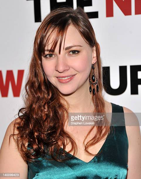 Actress Erin Darke attends the New Group Gala 2012 Cabaret Soiree at The Edison Ballroom on February 27 2012 in New York City