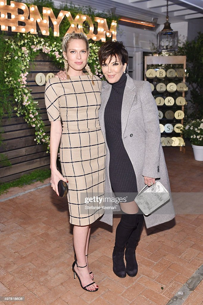 Actress Erin Foster and TV Personality Kris Jenner attend Barneys New York Jennifer Aniston and Tobey Maguire host a private dinner to celebrate The...