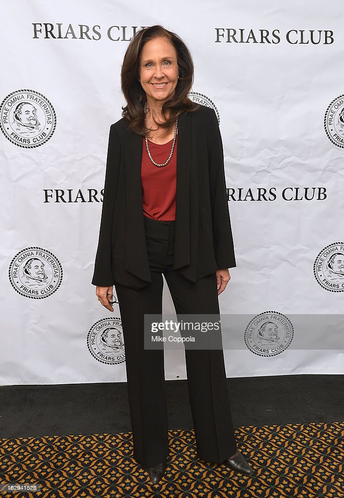 Actress Erin Gray attends The Friars Club: 'So You Think You Can Roast?' Celebrating Ricky Schroder at New York Friars Club on March 1, 2013 in New York City.