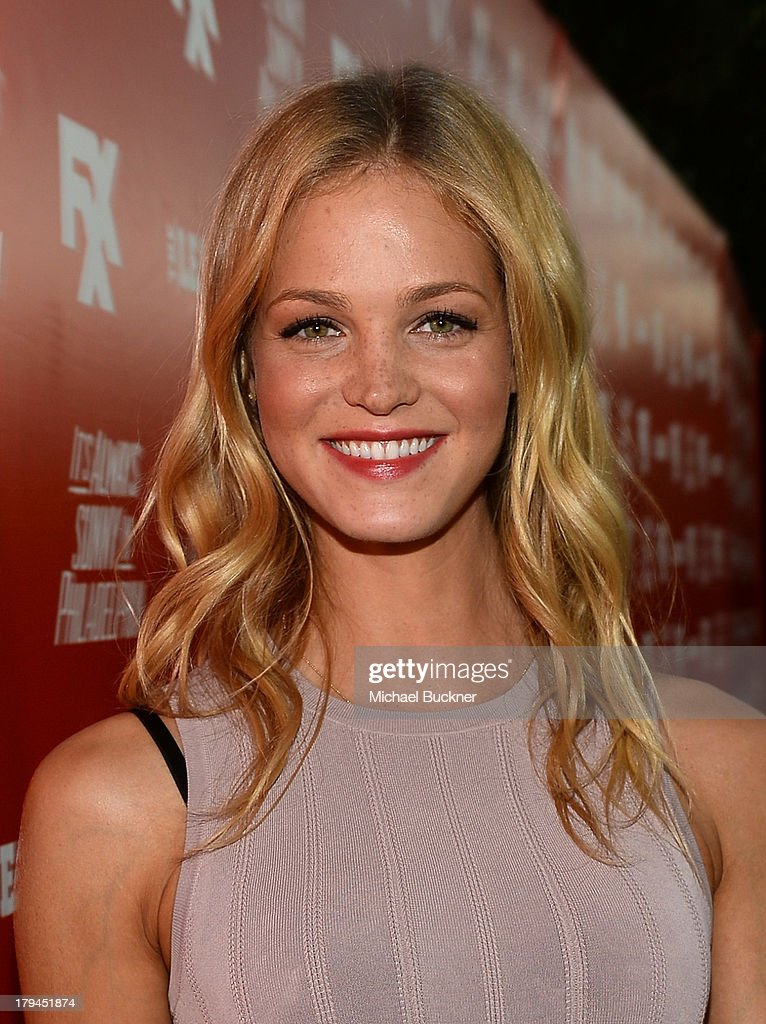 Actress Erin Heatherton attends the premiere and launch party for FXX Network's 'It's Always Sunny In Philadelphia' and 'The League' at Lure on September 3, 2013 in Hollywood, California.