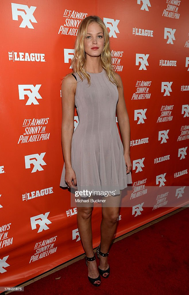 Actress <a gi-track='captionPersonalityLinkClicked' href=/galleries/search?phrase=Erin+Heatherton&family=editorial&specificpeople=5003810 ng-click='$event.stopPropagation()'>Erin Heatherton</a> attends the premiere and launch party for FXX Network's 'It's Always Sunny In Philadelphia' and 'The League' at Lure on September 3, 2013 in Hollywood, California.