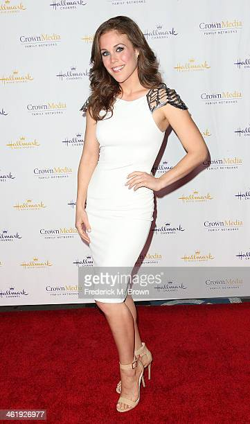 Actress Erin Krakow attends Hallmark Channel Hallmark Movie Channel's 2014 Winter TCA Party at The Huntington Library and Gardens on January 11 2014...