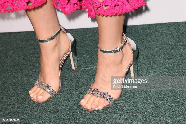 Actress Erin Krakow shoe detail attends the Hallmark Channel and Hallmark Movies and Mysteries 2017 Summer TCA Tour on July 27 2017 in Beverly Hills...