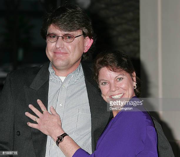Actress Erin Moran and her husband Steven Fleischmann attend 'A Mother's Day Salute to TV Moms' at the Academy of Television Arts Sciences May 6 2008...