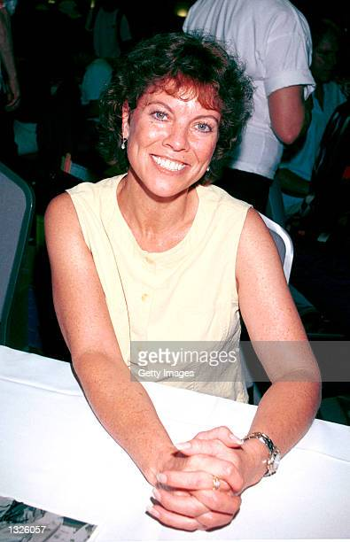 Actress Erin Moran attends the Hollywood Collectors Celebrities Show June 23 2001 at Beverly Garland''s Holiday Inn in North Hollywood CA