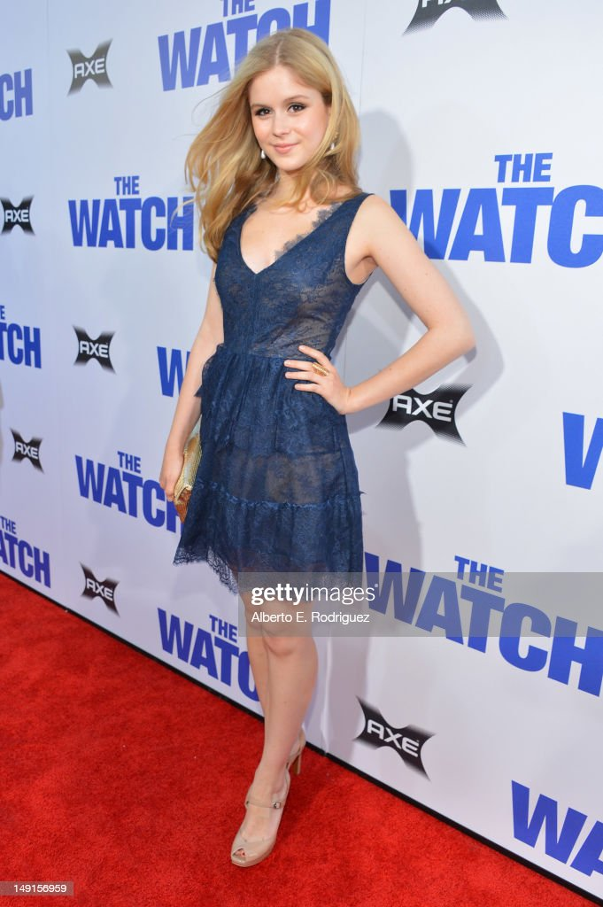 Actress Erin Moriarty arrives at the premiere of Twentieth Century Fox's 'The Watch' at Grauman's Chinese Theatre on July 23, 2012 in Hollywood, California.
