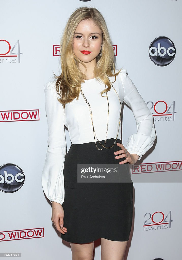 Actress Erin Moriarty attends a dinner to celebrate ABC's new series 'Red Widow' at Romanov Restaurant & Lounge on February 26, 2013 in Studio City, California.