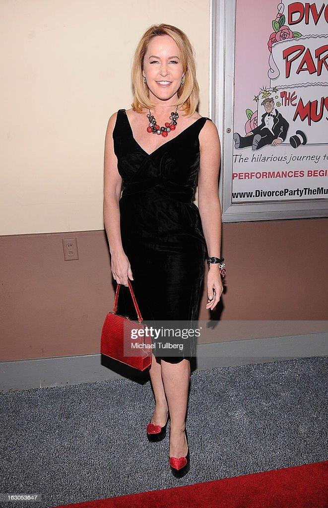 Actress Erin Murphy attends the opening night performance of 'Divorce Party - The Musical' at El Portal Theatre on March 3, 2013 in North Hollywood, California.