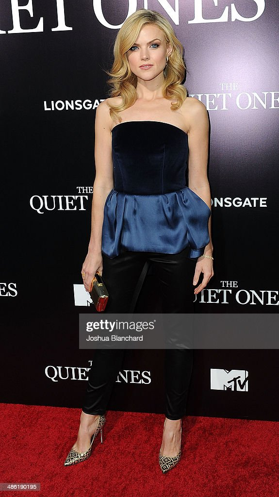 Actress <a gi-track='captionPersonalityLinkClicked' href=/galleries/search?phrase=Erin+Richards&family=editorial&specificpeople=8221042 ng-click='$event.stopPropagation()'>Erin Richards</a> arrives at the premiere of Lionsgate Films' 'The Quiet Ones' at the Theatre At Ace Hotel on April 22, 2014 in Los Angeles, California.