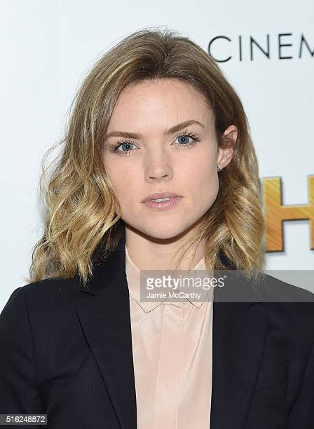 Actress Erin Richards attends a screening of Sony Pictures Classics' 'The Bronze' hosted by Cinema Society SELF at Metrograph on March 17 2016 in New...