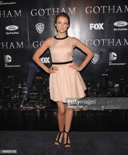 Actress Erin Richards attends 'Gotham' Series Premiere at The New York Public Library on September 15 2014 in New York City