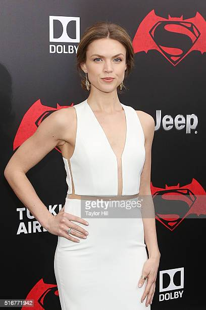 Actress Erin Richards attends the 'Batman v Superman Dawn of Justice' premiere at Radio City Music Hall on March 20 2016 in New York City
