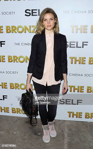 Actress Erin Richards attends The Cinema Society SELF host a screening of Sony Pictures Classics' 'The Bronze' at Metrograph on March 17 2016 in New...