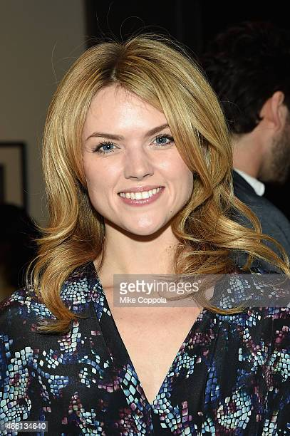 Actress Erin Richards attends The Global Poverty Project hosted 4th annual Live Below The Line launch party at Milk Studios on March 13 2015 in New...
