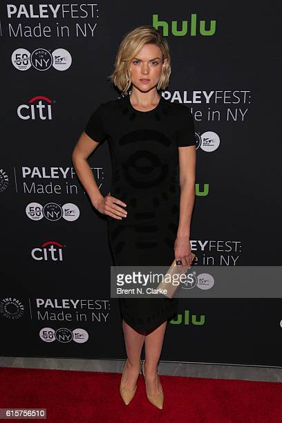 Actress Erin Richards attends the 'Gotham' panel discussion and screening during PaleyFest New York 2016 held at The Paley Center for Media on...