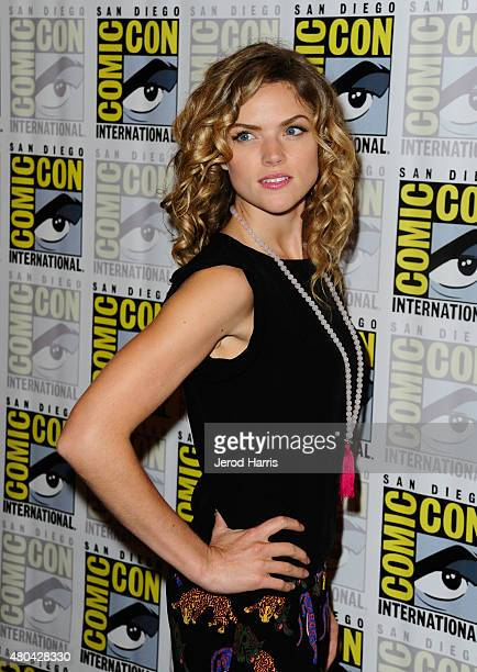 Actress Erin Richards attends the 'Gotham' press room during ComicCon International 2015 at the Hilton Bayfront on July 11 2015 in San Diego...