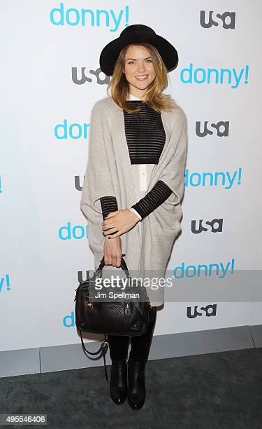 Actress Erin Richards attends the USA Network hosts the premiere of 'Donny' at The Rainbow Room on November 3 2015 in New York City