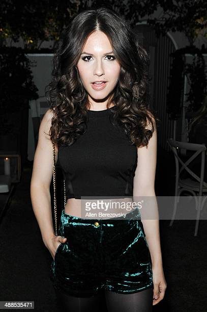 Actress Erin Sanders attends a private view and release party for Annex Online Magazine hosted by Drake Bell at SkyBar at the Mondrian Los Angeles on...