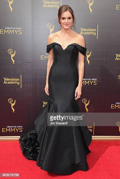 Actress Erinn Hayes arrives at the 2016 Creative Arts Emmy Awards at Microsoft Theater on September 11 2016 in Los Angeles California