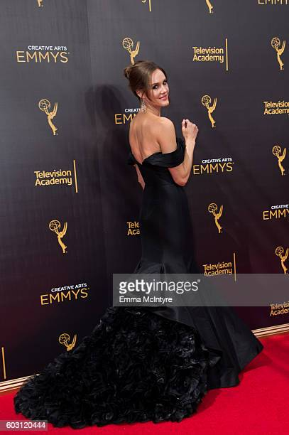 Actress Erinn Hayes arrives at the Creative Arts Emmy Awards at Microsoft Theater on September 10 2016 in Los Angeles California