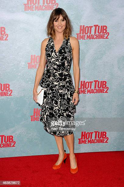 Actress Erinn Hayes arrives at the Los Angeles premiere of 'Hot Tub Time Machine 2' at Regency Village Theatre on February 18 2015 in Westwood...