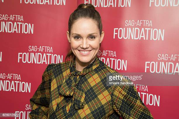 Actress Erinn Hayes attends SAGAFTRA Foundation's Conversations with 'Kevin Can Wait' at SAGAFTRA Foundation Screening Room on November 21 2016 in...
