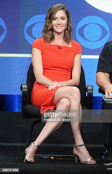 Actress Erinn Hayes speaks onstage at the 'Kevin Can Wait' panel discussion during the CBS portion of the 2016 Television Critics Association Summer...