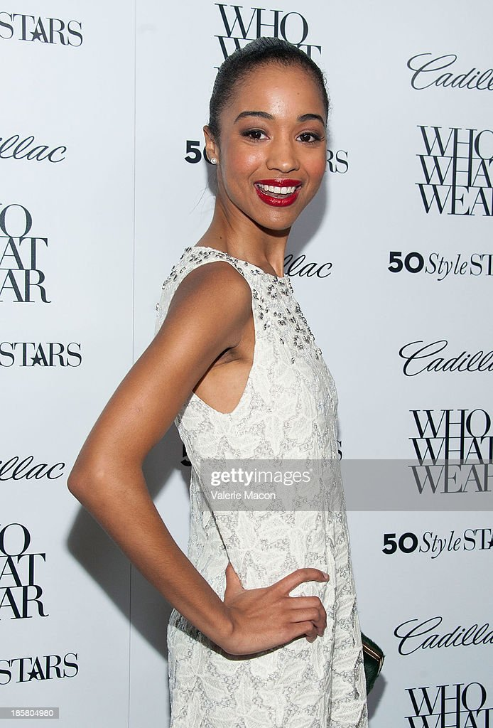 Actress Erinn Westbrook arrives at the Who What Wear And Cadillac's 50 Most Fashionable Women Of 2013 Event at The London Hotel on October 24, 2013 in West Hollywood, California.