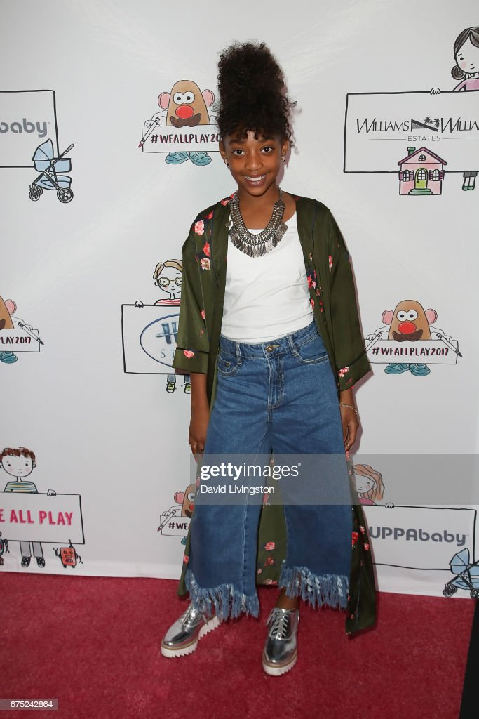 Actress Eris Baker attends the WE ALL PLAY FUNdraiser hosted by the Zimmer Children's Museum at the Zimmer Children's Museum on April 30, 2017 in Los Angeles, California.