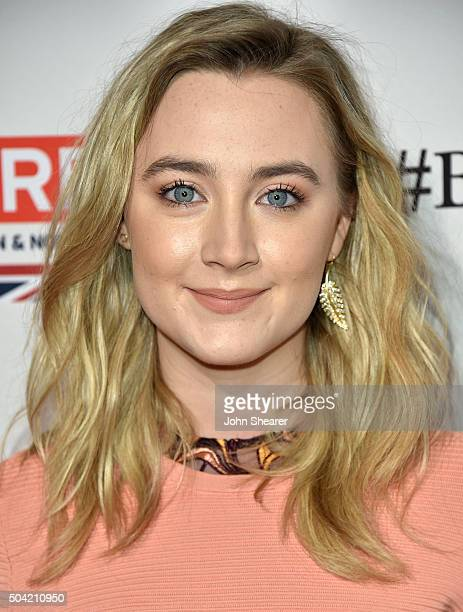 Actress ESaoirse Ronan attends the BAFTA Awards Season Tea Party at Four Seasons Hotel Los Angeles at Beverly Hills on January 9 2016 in Los Angeles...