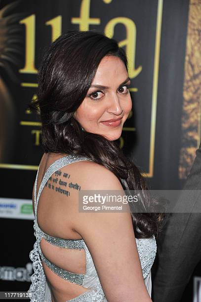 Actress Esha Deol attends the MAC Cosmetics Sponsored IIFAS Awards Presentation at the Rogers Centre on June 25 2011 in Toronto Canada