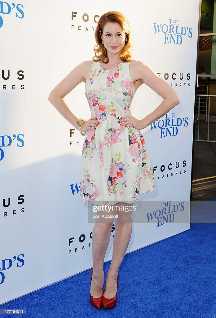 Actress <a gi-track='captionPersonalityLinkClicked' href=/galleries/search?phrase=Esme+Bianco&family=editorial&specificpeople=5348183 ng-click='$event.stopPropagation()'>Esme Bianco</a> arrives at the Los Angeles Premiere 'The World's End' at ArcLight Cinemas Cinerama Dome on August 21, 2013 in Hollywood, California.
