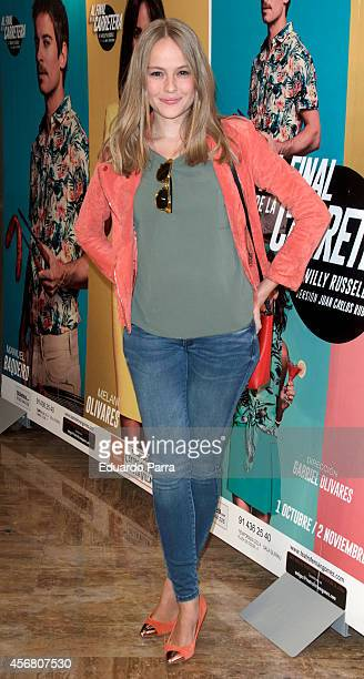 Actress Esmeralda Moya attends 'Al final de la carretera' premiere photocall at Fernando Fernan Gomez theatre on October 7 2014 in Madrid Spain