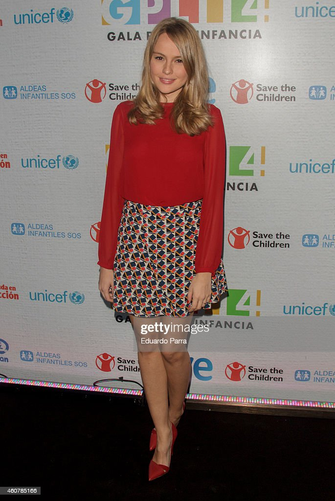 Actress Esmeralda Moya attends the Gala for Children photocall at Magarinos sports center on December 22, 2014 in Madrid, Spain.