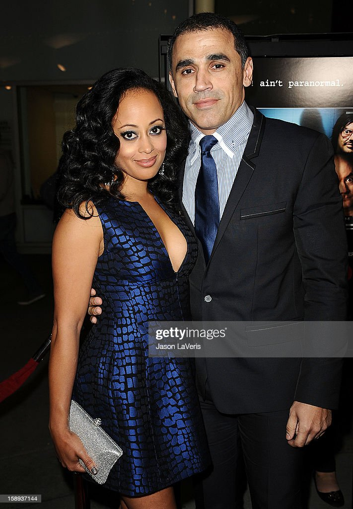 Actress Essence Atkins and husband Jaime Mendez attend the premiere of 'A Haunted House' at ArcLight Hollywood on January 3, 2013 in Hollywood, California.