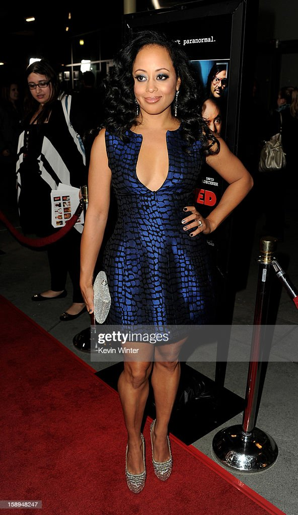 Actress Essence Atkins arrives at the premiere of Open Road Films' 'A Haunted House' at the Arclight Theatre on January 3, 2013 in Los Angeles, California.