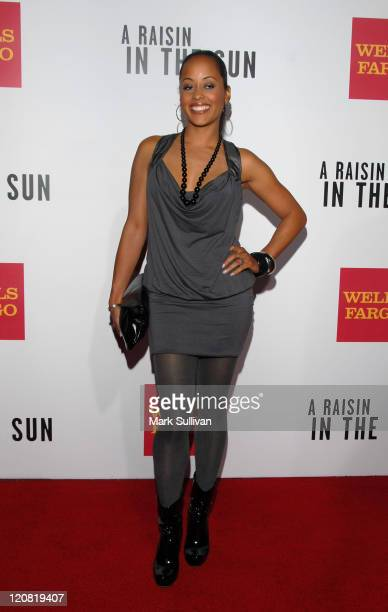 Actress Essence Atkins arrives at the west coast screening of 'A Raisin In The Sun' held on February 11 2008 in Los Angeles California