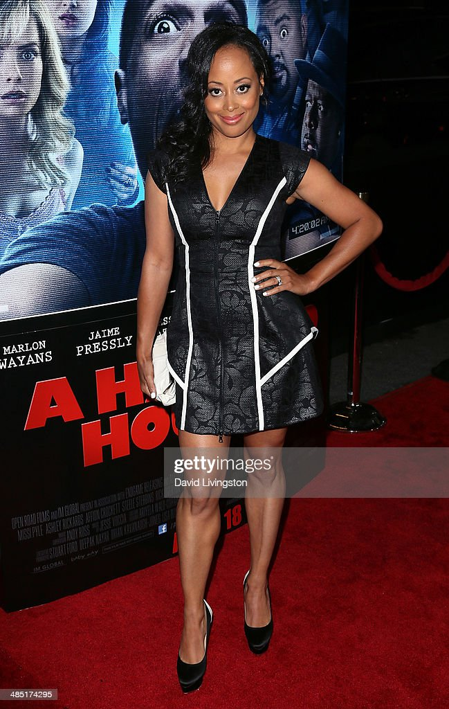 Actress <a gi-track='captionPersonalityLinkClicked' href=/galleries/search?phrase=Essence+Atkins&family=editorial&specificpeople=225171 ng-click='$event.stopPropagation()'>Essence Atkins</a> attends the premiere of Open Road Films' 'A Haunted House 2' at Regal Cinemas L.A. Live on April 16, 2014 in Los Angeles, California.