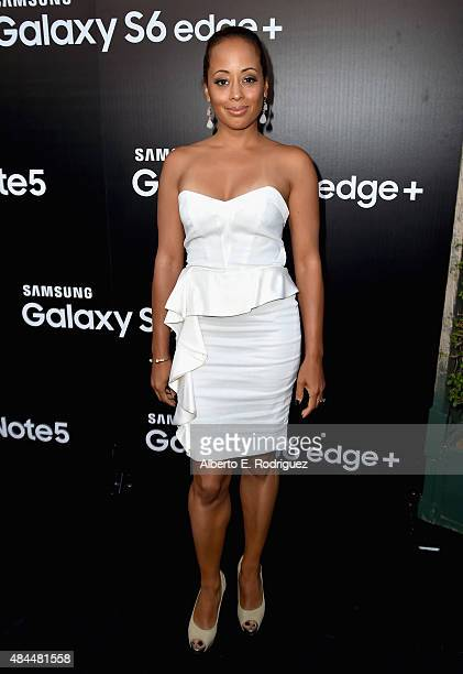 Actress Essence Atkins attends the Samsung Galaxy S6 Edge Plus and Note 5 Launch party on August 18 2015 in West Hollywood California
