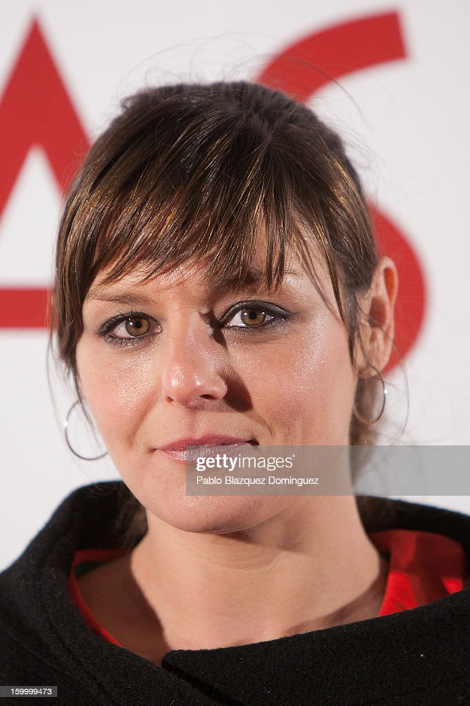 Actress Estefania de los Santos attends 'La Banda Picasso' Premiere at Capitol Cinema on January 24, 2013 in Madrid, Spain.
