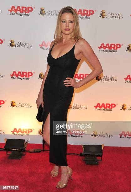 Actress Estella Warren arrives at AARP Magazine's 9th Annual 'Movies for Grownups Awards at The Beverly Wilshire Hotel on February 16 2010 in Beverly...