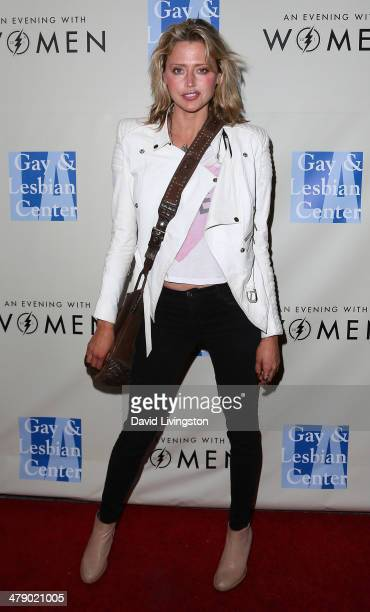 Actress Estella Warren attends An Evening with Women kickoff concert presented by the LA Gay Lesbian Center at The Roxy Theatre on March 15 2014 in...
