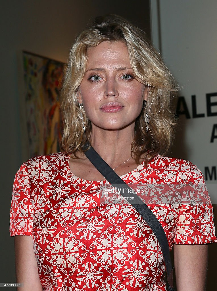 Actress Estella Warren attends the Alexander Yulish 'An Unquiet Mind' VIP opening reception at KM Fine Arts LA Studio on March 8, 2014 in Los Angeles, California.