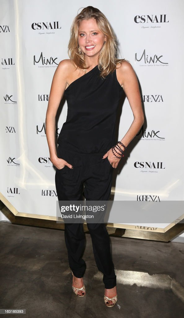 Actress Estella Warren attends the launch event for Minx's newest nail line at esNail on March 5, 2013 in Los Angeles, California.