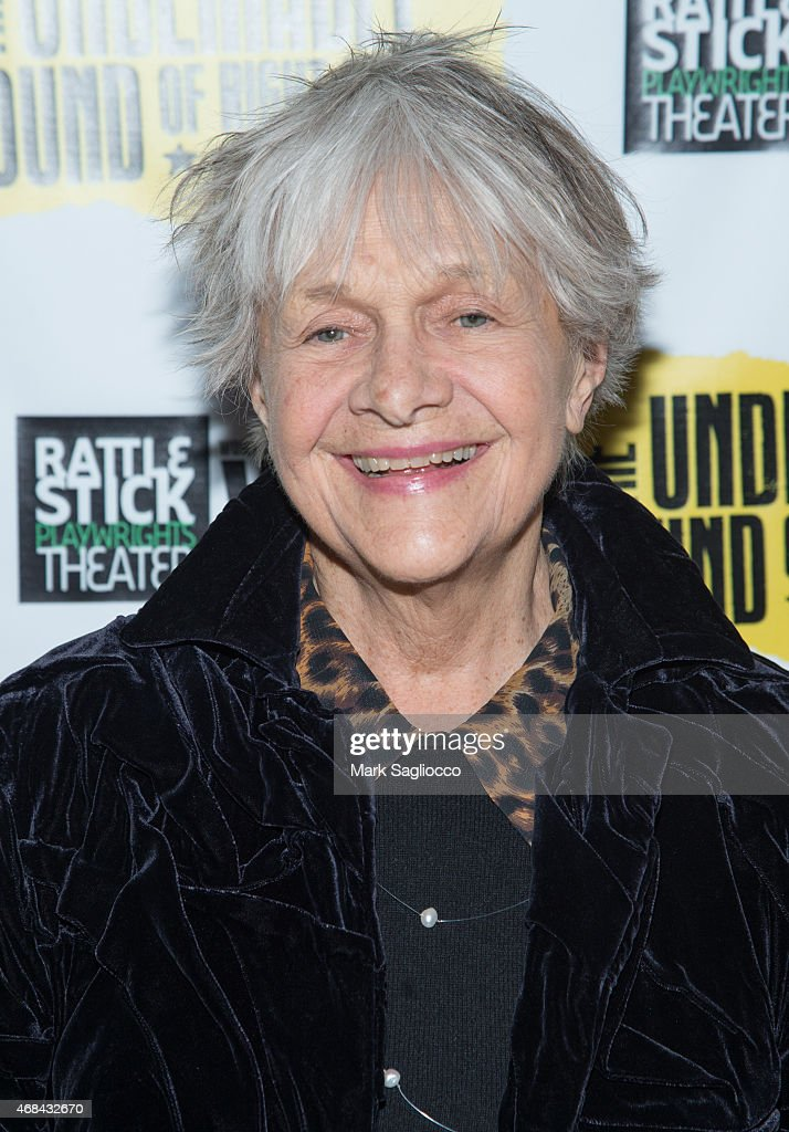 Actress <a gi-track='captionPersonalityLinkClicked' href=/galleries/search?phrase=Estelle+Parsons&family=editorial&specificpeople=221565 ng-click='$event.stopPropagation()'>Estelle Parsons</a> attends 'The Undeniable Sound of Right Now' at the Rattlestick Playwrights Theater on April 2, 2015 in New York City.
