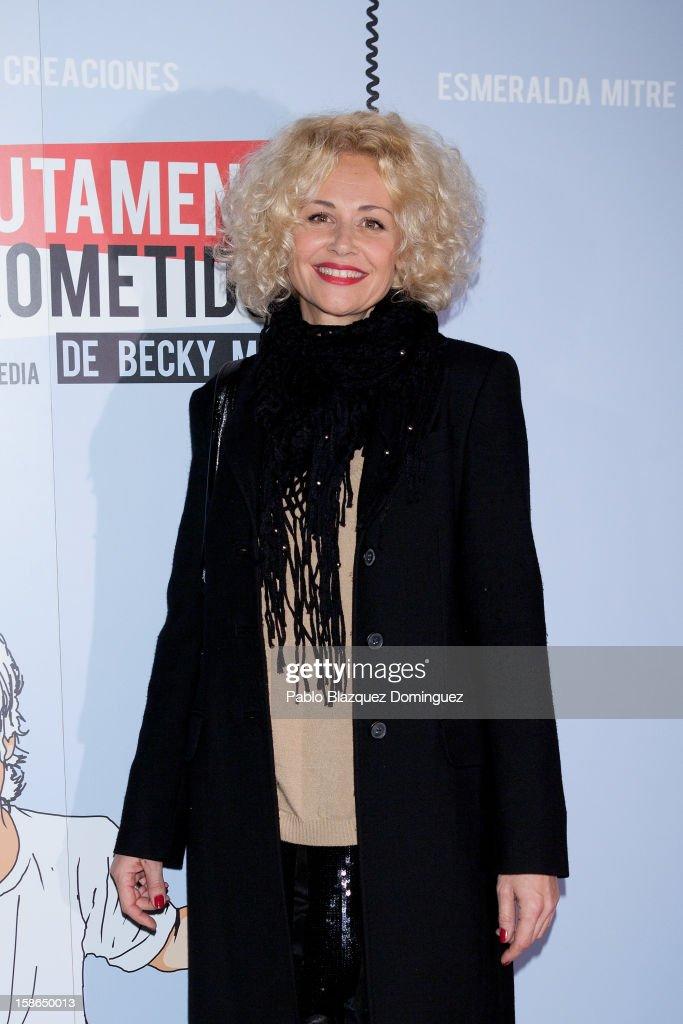 Actress Esther Arroyo attends 'Absolutamente Comprometidos' premiere at Teatro del Arte de Madrid on December 22, 2012 in Madrid, Spain.