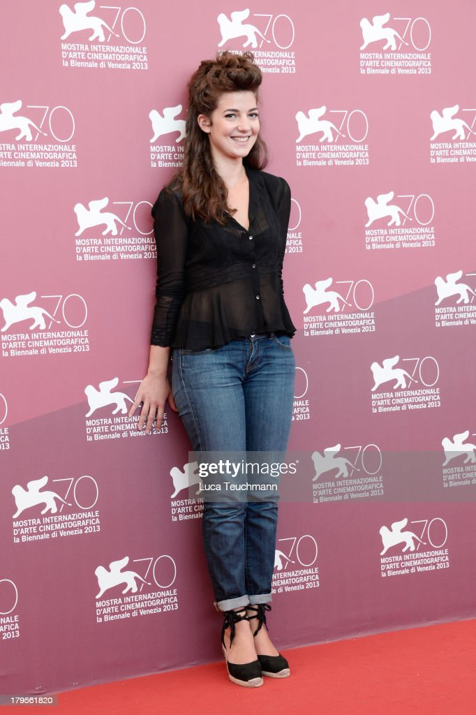 Actress <a gi-track='captionPersonalityLinkClicked' href=/galleries/search?phrase=Esther+Garrel&family=editorial&specificpeople=7784458 ng-click='$event.stopPropagation()'>Esther Garrel</a> attends 'La Jalousie' Photocall during the 70th Venice International Film Festival at Palazzo del Casino on September 5, 2013 in Venice, Italy.