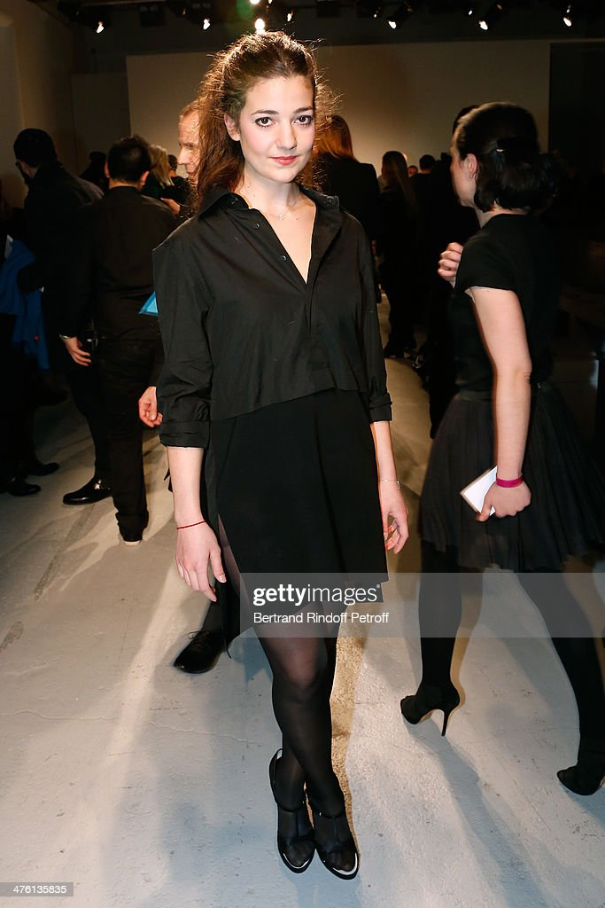 Actress <a gi-track='captionPersonalityLinkClicked' href=/galleries/search?phrase=Esther+Garrel&family=editorial&specificpeople=7784458 ng-click='$event.stopPropagation()'>Esther Garrel</a> attends the John Galliano show as part of the Paris Fashion Week Womenswear Fall/Winter 2014-2015 on March 2, 2014 in Paris, France.